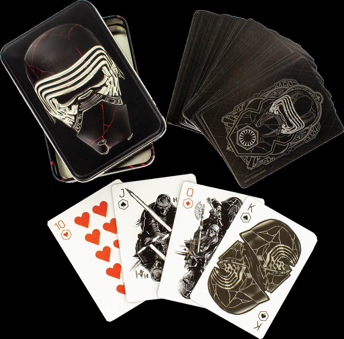 Star Wars Episode 9 Spielkarten in Shaped Tin
