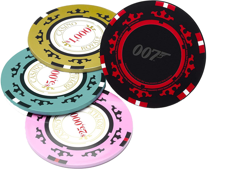 James Bond Casino Royale Poker Chip Untersetzer-Set