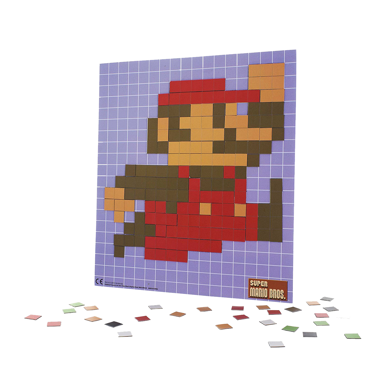 Super Mario Bros Pixel Craft Magnet Set Kingsloot