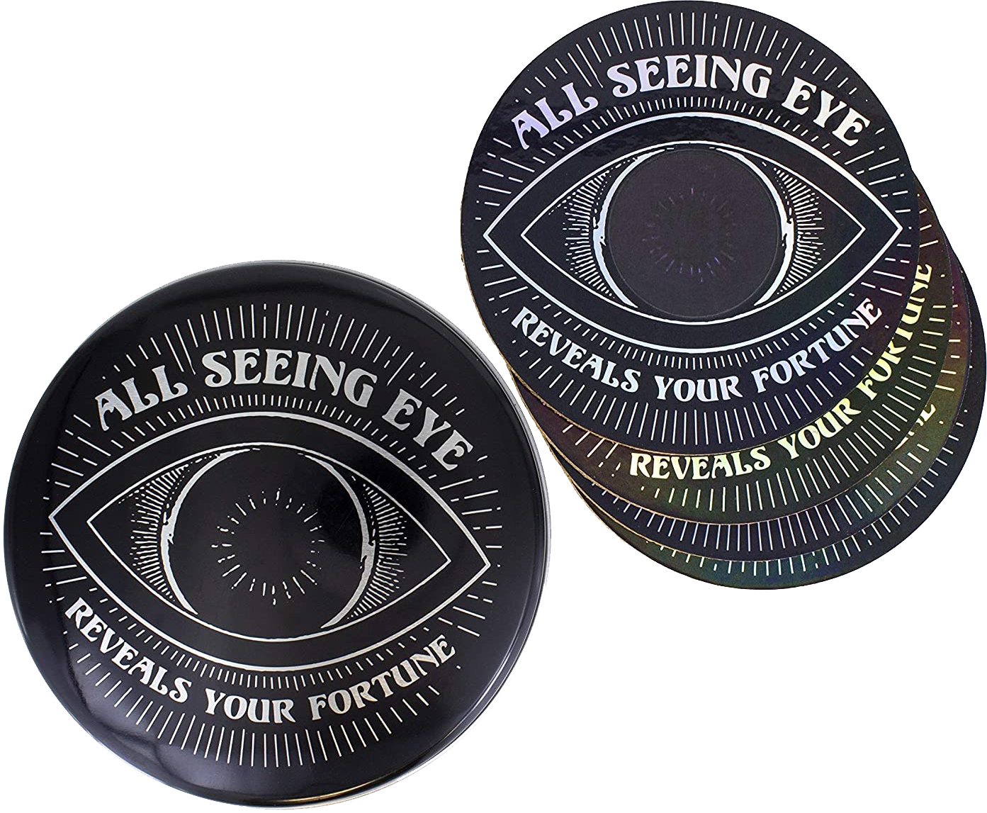 Alles sehende Auge Untersetzer-Set