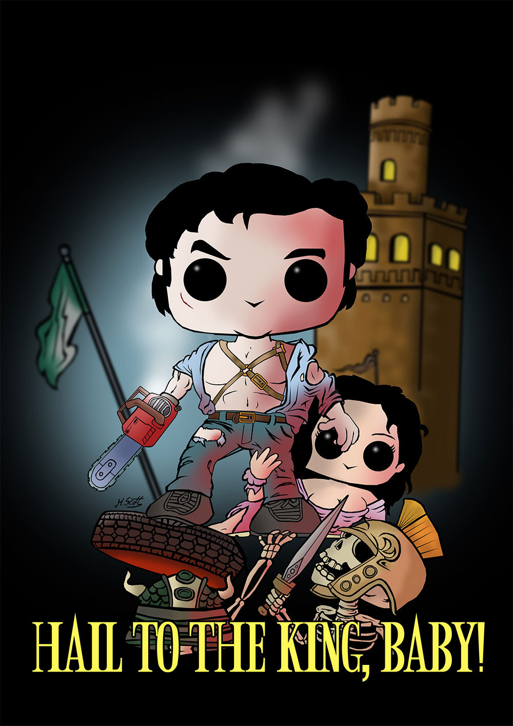 """Army of Darkness"" Premium-Artprint"