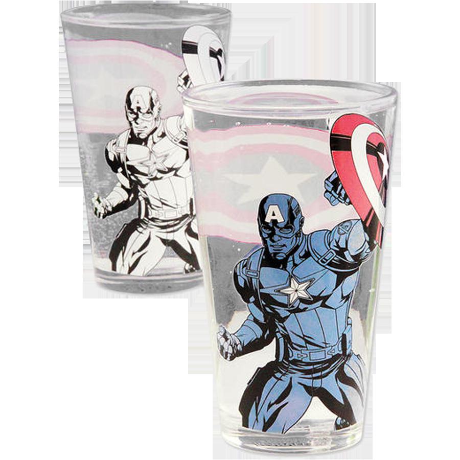 Marvel Avengers Farbwechsel-Glas Captain America