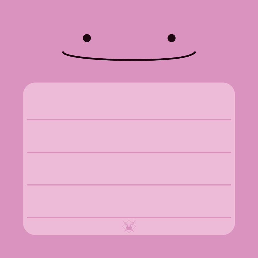 Pink-Monster Post-It Block