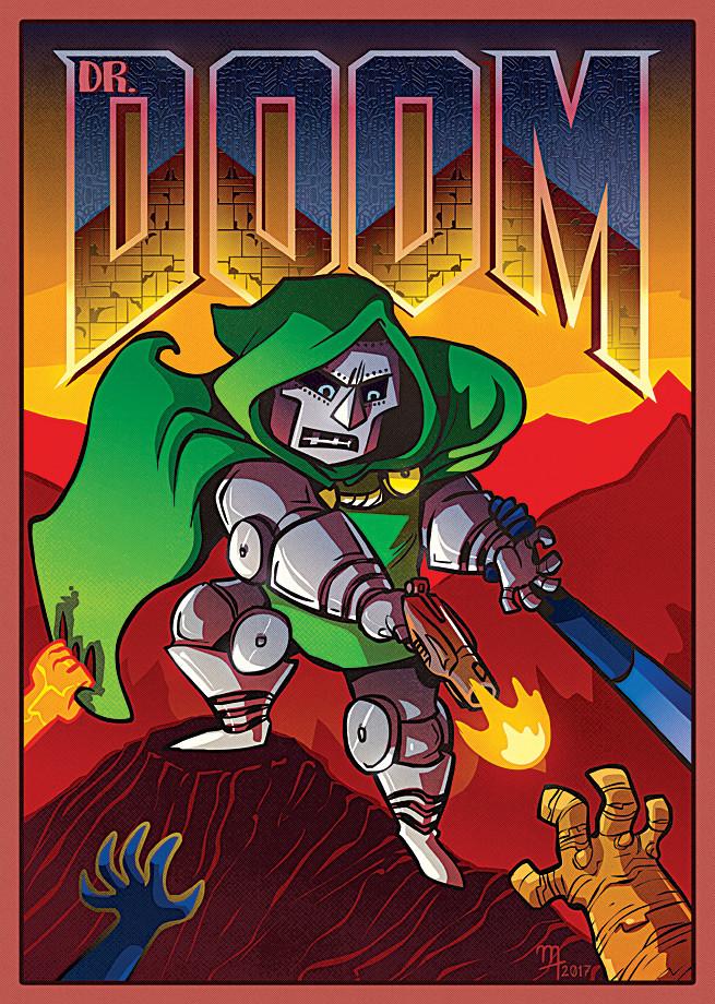 """Fantastic Doom"" Premium-Artprint"