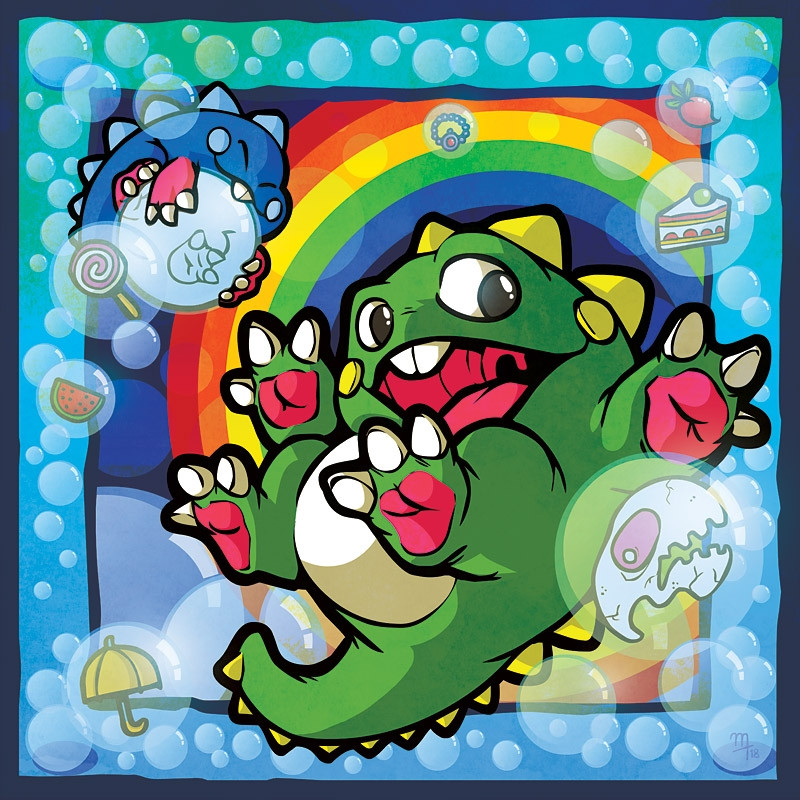 """Bubbles"" Premium Glass-Print"