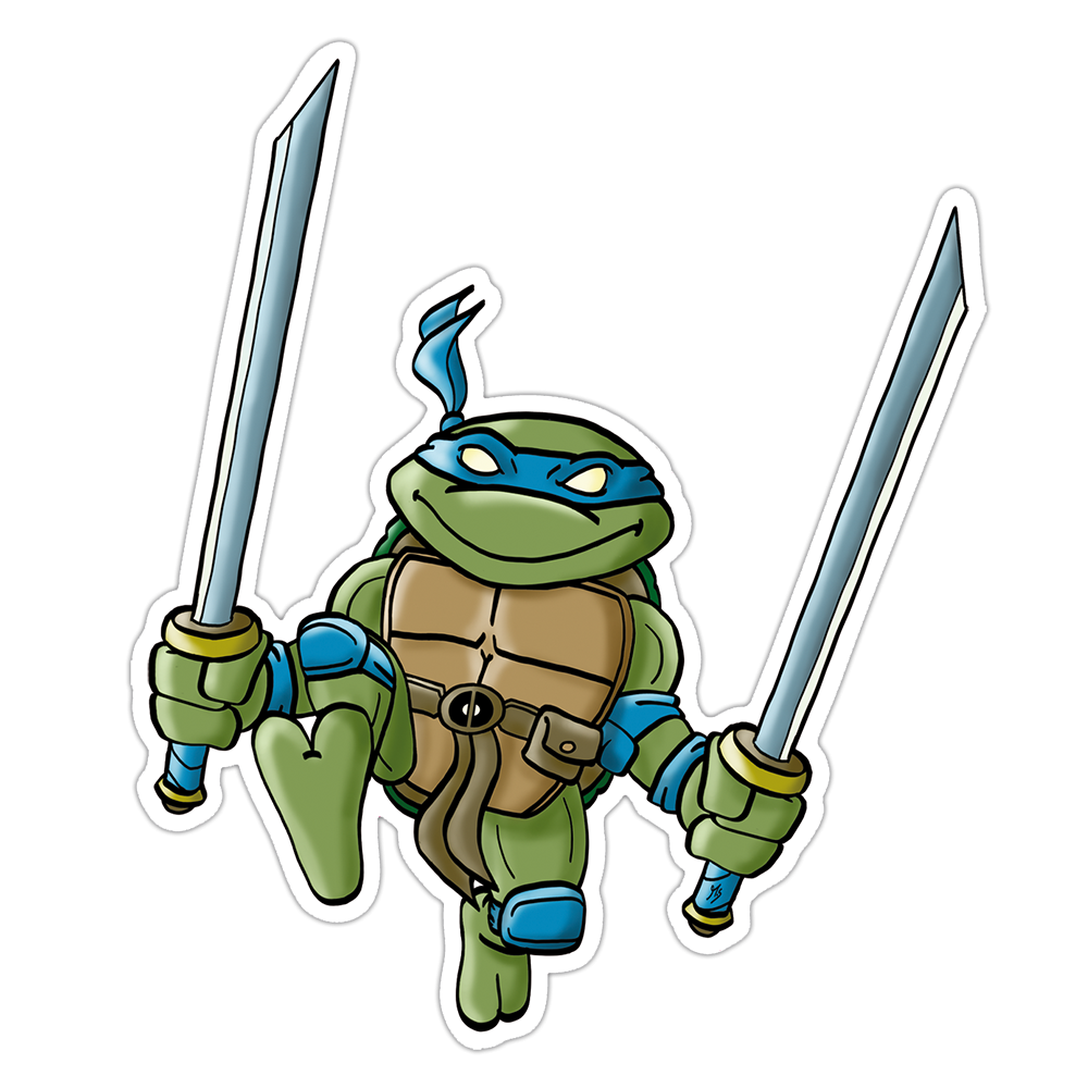 """Mutant Turtle"" Vinyl Sticker Blue Version"
