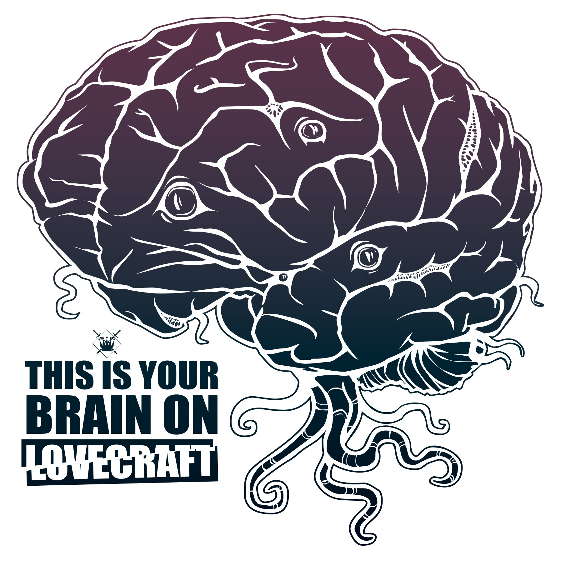 """Lovecraft Brain"" KingsLoot-Sticker"