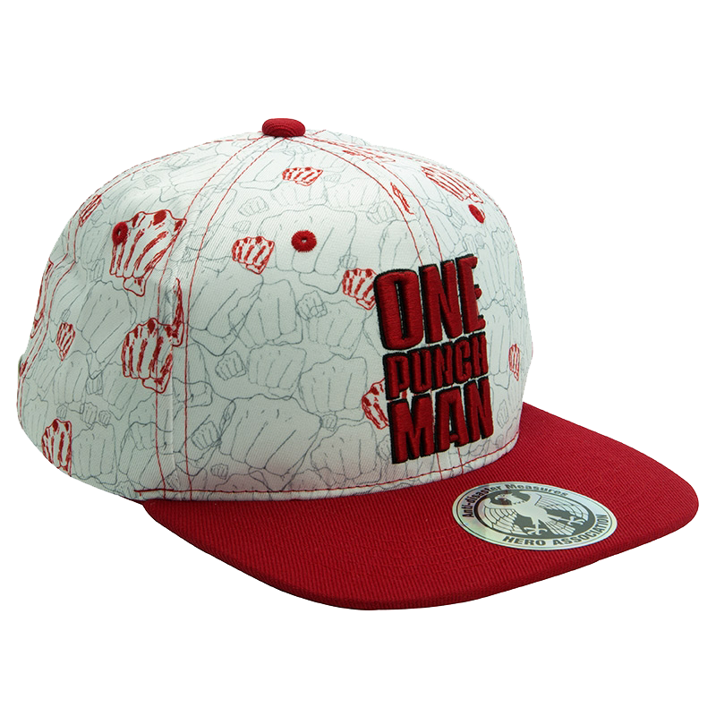 One Punch Man Punches Snapback Cap