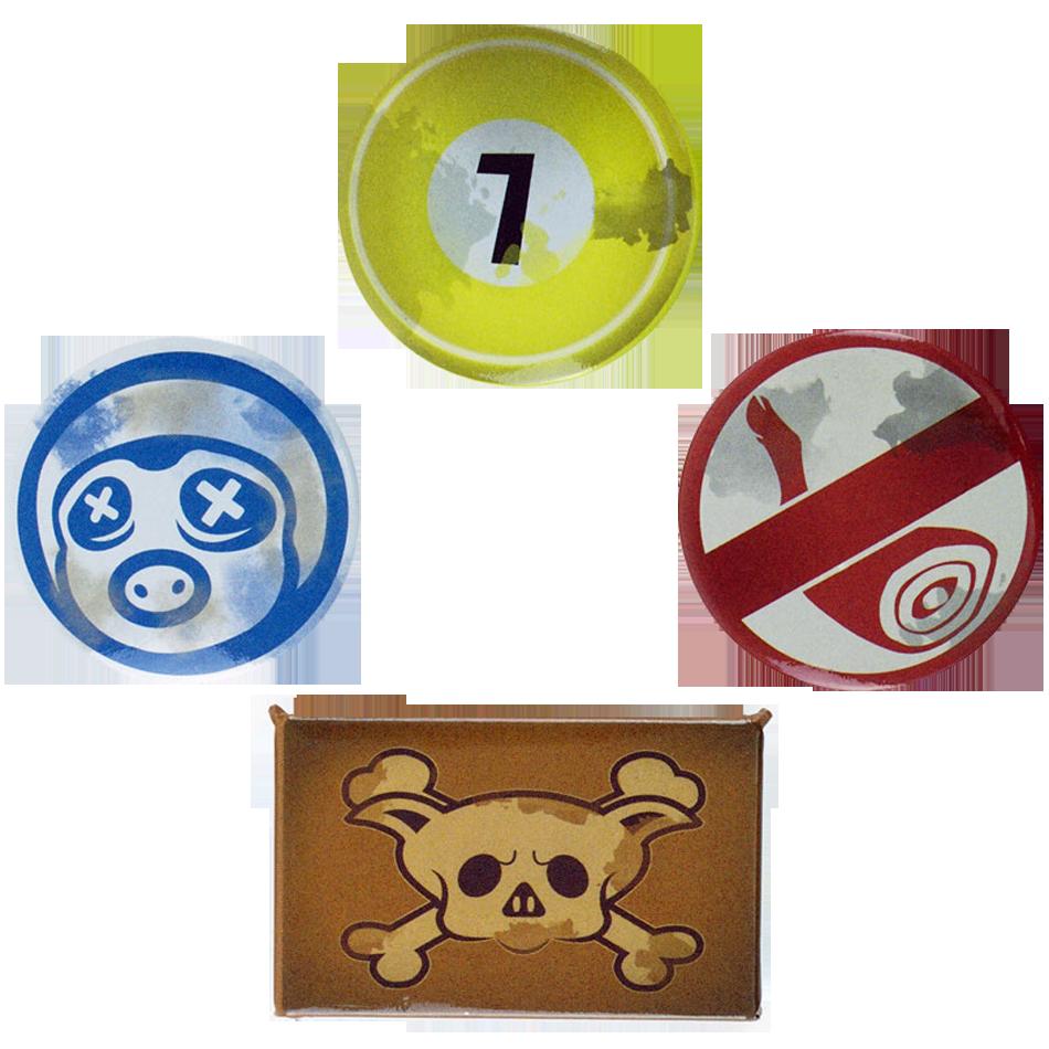 Overwatch Roadhog Button-Set
