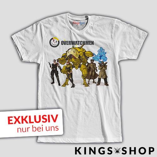 """Overwatchmen"" KingsLoot Premium T-Shirt weiß"