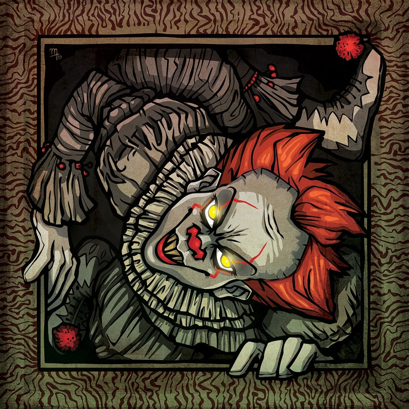 """Twisted Clown"" Premium Glass-Print"