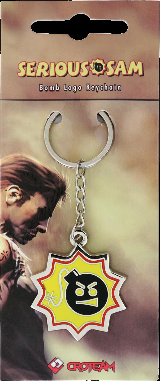 Serious Sam Metall-Schlüsselanhänger