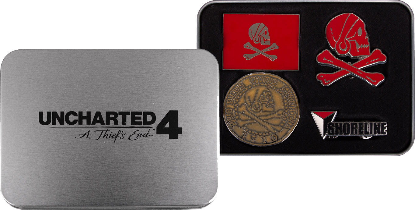 Uncharted 4: A Thiefs End Pin Set