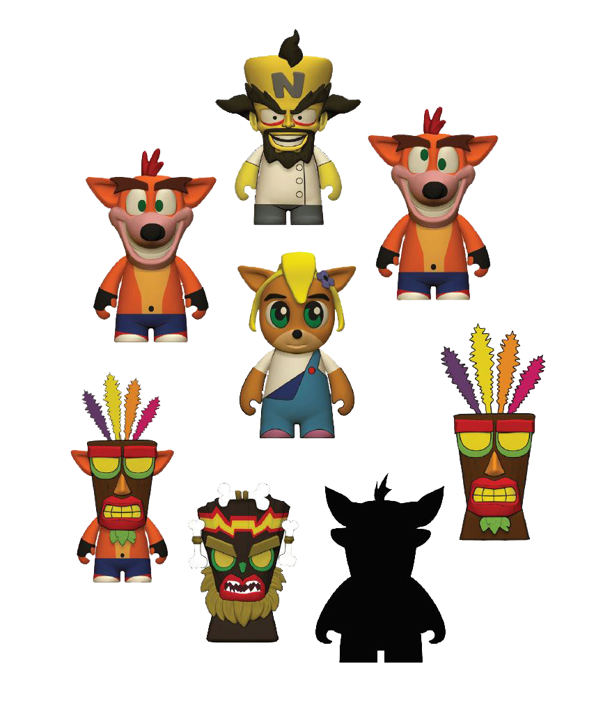 Crash Bandicoot Kidrobot Vinyl Figur Blind Box