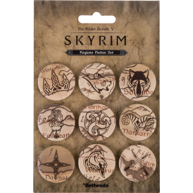 The Elder Scolls V: Skyrim Regions Button-Set