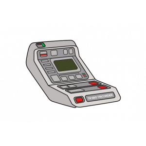 """KingPin #12 Emaille """"Tricorder"""""""
