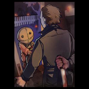 """Halloween Clash"" Premium Artprint"