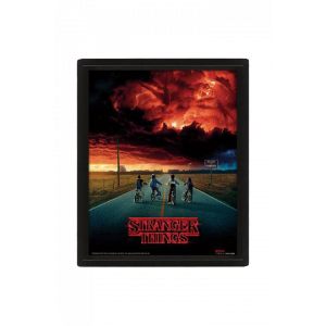 Stranger Things 3D-Effekt Poster im Rahmen Mind Flayer