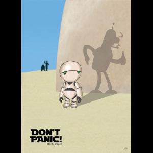 """Don't Panic!"" Premium-Artprint"