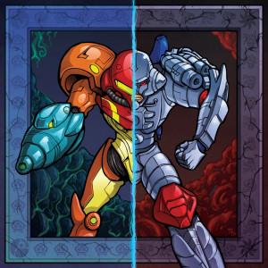 """Cyber Warriors"" Premium Glass-Print"