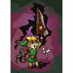 """Link Calibur"" Premium-Artprint"
