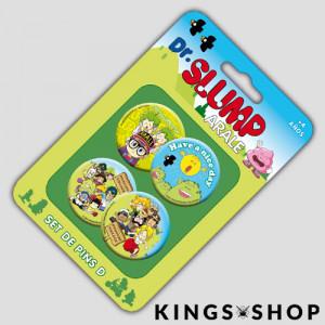 Dr. Slump Ansteck-Buttons 4er-Pack Set D