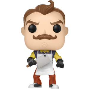 Funko POP! Games Hello Neighbor Figur Neighbor with Apron & Meat Cleaver