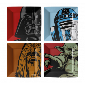 Star Wars Teller Character Graphics 4-er Pack