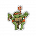"""Mutant Turtle"" Vinyl Sticker Orange Version"