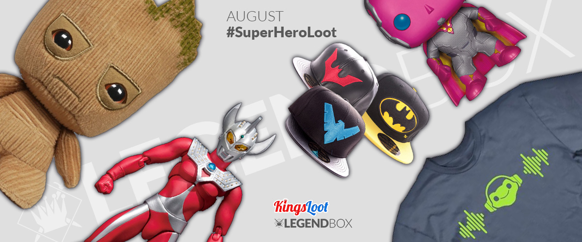 Inhalt der LegendBox Super Hero Loot