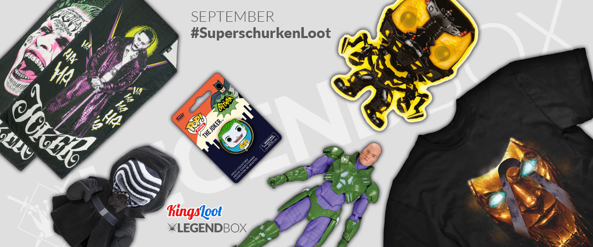 Inhalt der LegendBox Superschurken Loot
