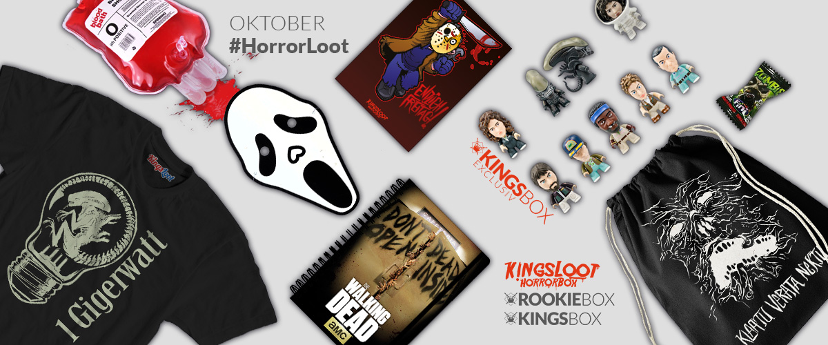 Content of RookieBox and KingsBox Horror Loot