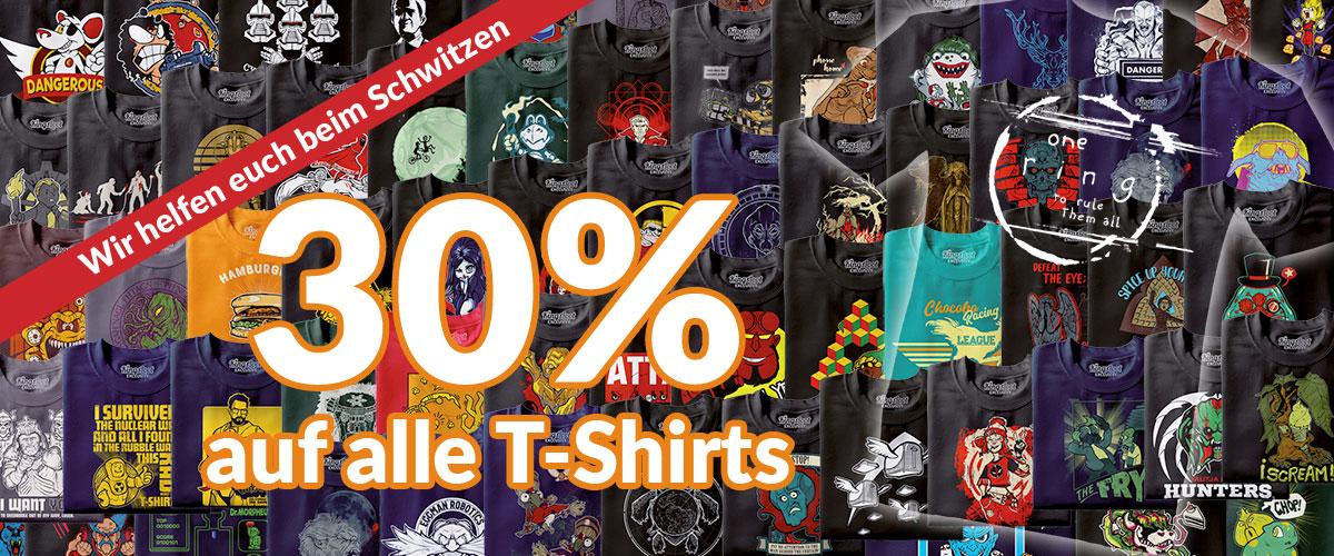 Wir helfen euch beim Schwitzen: 30% auf alle T-Shirts